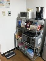 Appliances, tupperware, and random foods