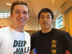Iwamoto and I after our matches