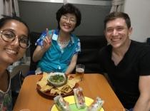 Naoko came for dinner!