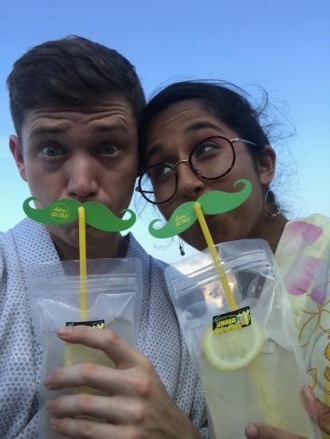 lemonade moustaches