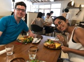 Quiche for lunch at Demosonotokino.