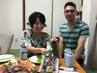 Tomoko and Dan getting ready to make some more makizushi