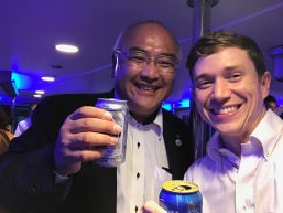 Me and Director Iwata on our cruise nomikai