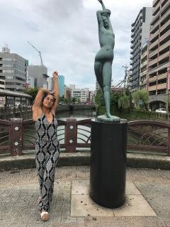 posing on the bridge