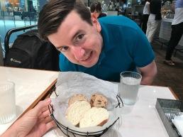 James loves bread.
