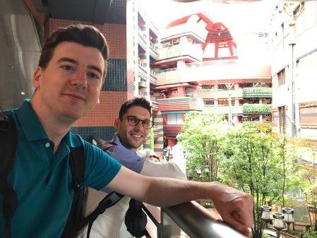 Dan and James at Canal City