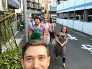 7/8 of the working committee heading to dinner