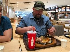 Okonomiyaki and some takoyaki