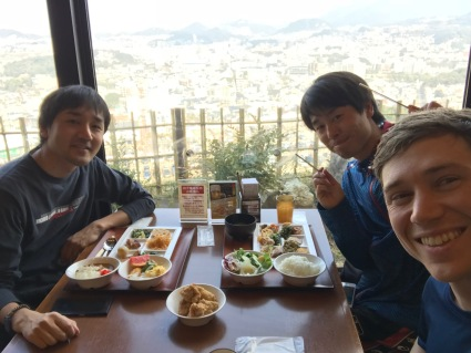 Window seat at the Fukunoyu buffet