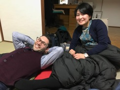 Dan and Tomoko chillin