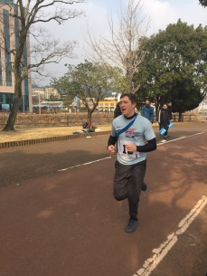 A less flattering picture of me running