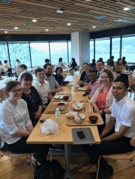 Lunch at the Kencho cafeteria with the 2018 Working Committee!